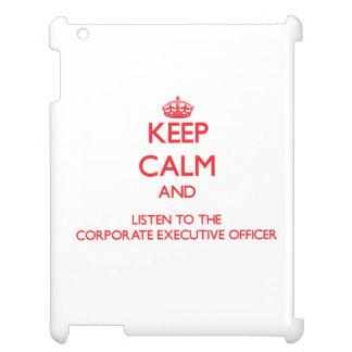 Guarde la calma y escuche el ejecutivo empresarial