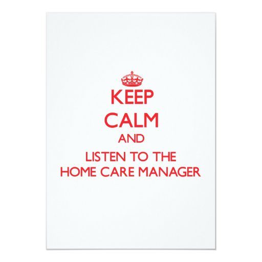 Guarde la calma y escuche el encargado de cuidados anuncio personalizado