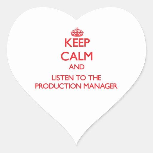 Guarde la calma y escuche el encargado de colcomanias corazon personalizadas