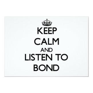 Guarde la calma y escuche el enlace invitacion personalizada