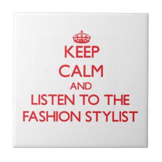 Guarde la calma y escuche el estilista de la moda tejas  ceramicas
