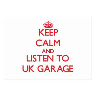 Guarde la calma y escuche el GARAJE BRITÁNICO Tarjeta De Visita