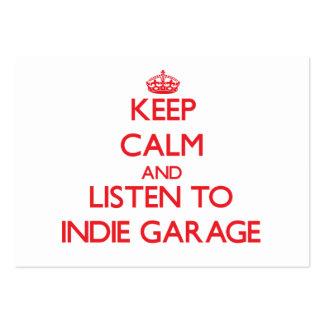 Guarde la calma y escuche el GARAJE del INDIE Plantilla De Tarjeta De Negocio