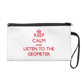 Guarde la calma y escuche el geómetra