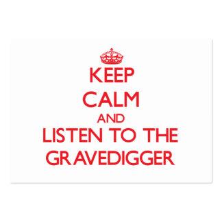 Guarde la calma y escuche el Gravedigger Plantillas De Tarjetas De Visita