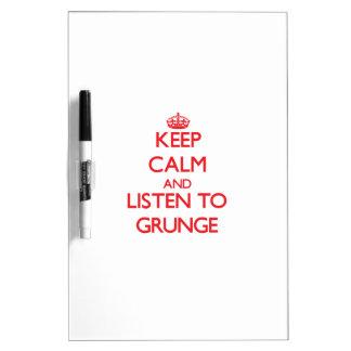 Guarde la calma y escuche el GRUNGE