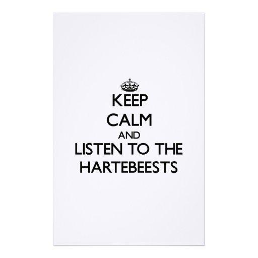 Guarde la calma y escuche el Hartebeests Papeleria