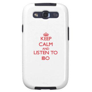 Guarde la calma y escuche el IBO Galaxy SIII Carcasa