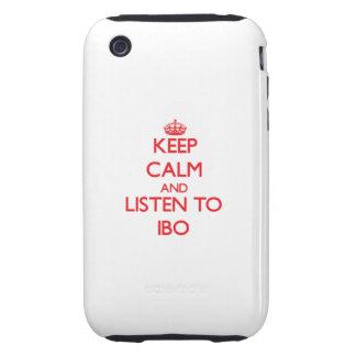 Guarde la calma y escuche el IBO Tough iPhone 3 Funda