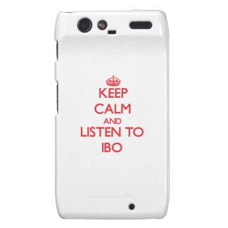 Guarde la calma y escuche el IBO Motorola Droid RAZR Carcasa