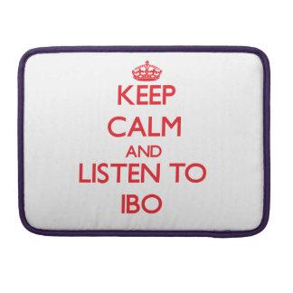 Guarde la calma y escuche el IBO Fundas Macbook Pro
