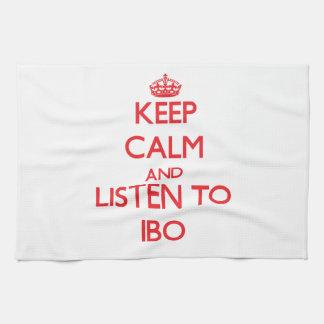 Guarde la calma y escuche el IBO Toalla De Mano