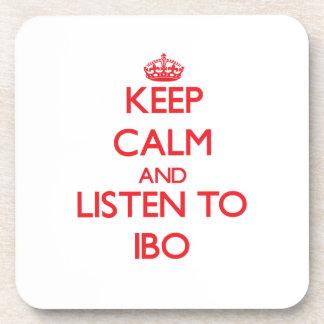 Guarde la calma y escuche el IBO Posavasos De Bebidas