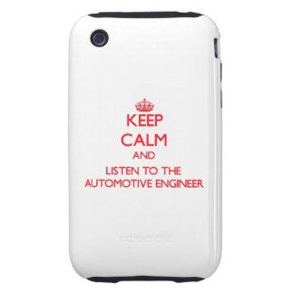 Guarde la calma y escuche el ingeniero automotriz tough iPhone 3 protector