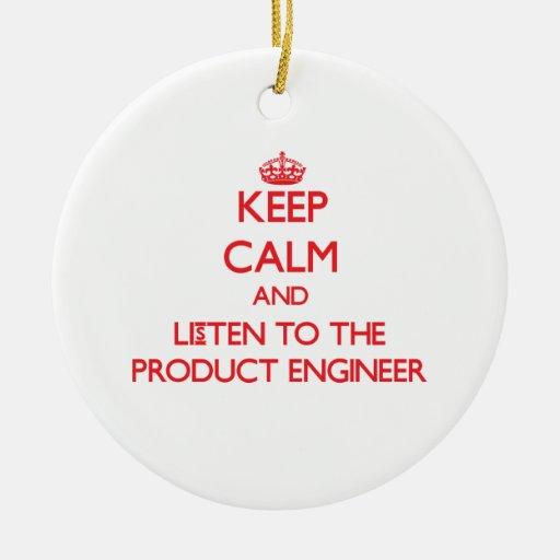 Guarde la calma y escuche el ingeniero del product ornaments para arbol de navidad