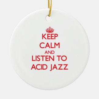 Guarde la calma y escuche el JAZZ ÁCIDO Ornamento De Reyes Magos
