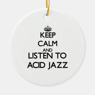 Guarde la calma y escuche el JAZZ ÁCIDO Ornamentos De Reyes Magos