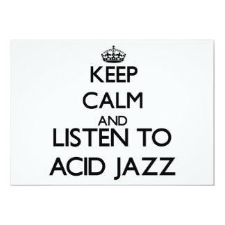 Guarde la calma y escuche el JAZZ ÁCIDO Comunicados