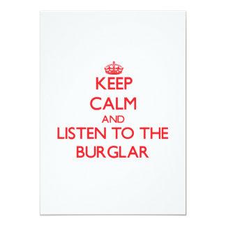 Guarde la calma y escuche el ladrón anuncio personalizado