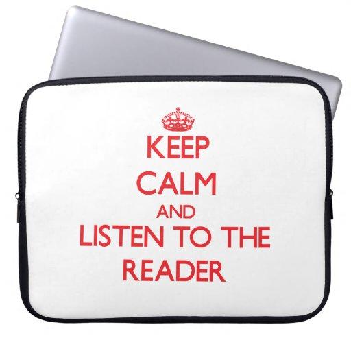 Guarde la calma y escuche el lector manga portátil
