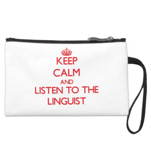 Guarde la calma y escuche el lingüista