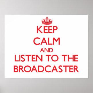 Guarde la calma y escuche el locutor impresiones