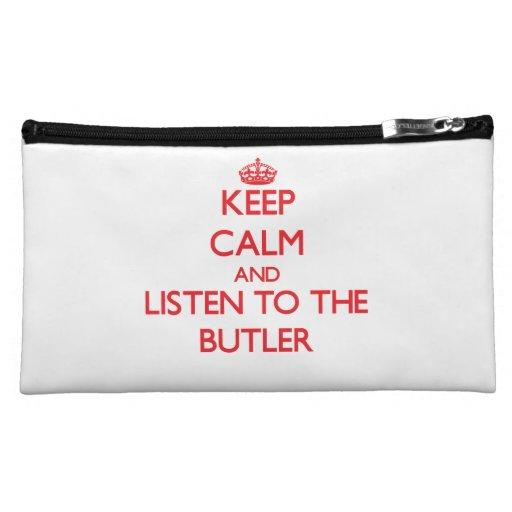 Guarde la calma y escuche el mayordomo