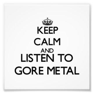 Guarde la calma y escuche el METAL de GORE Fotografía