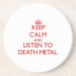Guarde la calma y escuche el METAL de la MUERTE Posavasos Diseño