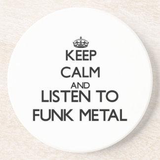 Guarde la calma y escuche el METAL del MIEDO Posavasos Manualidades