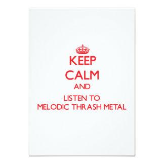 Guarde la calma y escuche el METAL MELÓDICO del Invitación 12,7 X 17,8 Cm