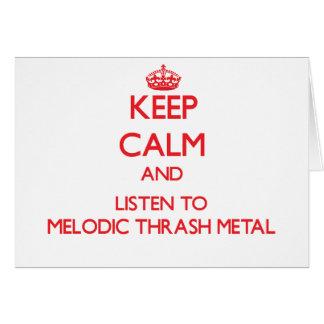 Guarde la calma y escuche el METAL MELÓDICO del MO Tarjetas