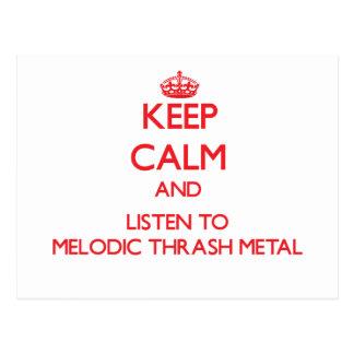 Guarde la calma y escuche el METAL MELÓDICO del MO Tarjetas Postales