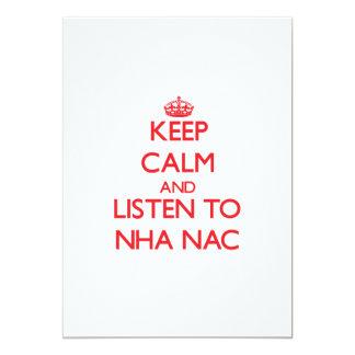 Guarde la calma y escuche el NAC de NHA Invitaciones Personalizada