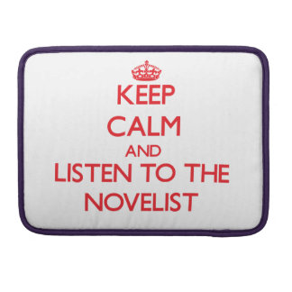 Guarde la calma y escuche el novelista fundas para macbook pro