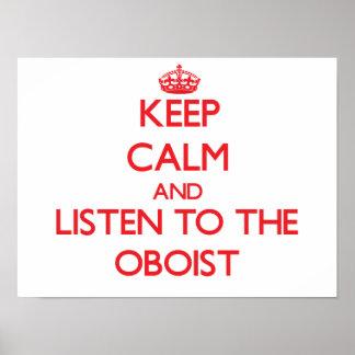 Guarde la calma y escuche el oboe poster