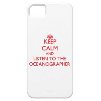 Guarde la calma y escuche el oceanógrafo iPhone 5 carcasa