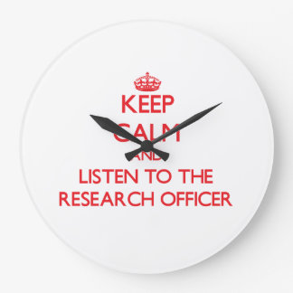 Guarde la calma y escuche el oficial de la investi reloj