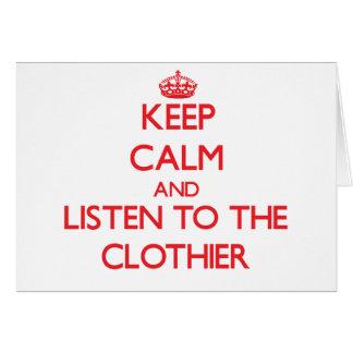 Guarde la calma y escuche el panero tarjeta