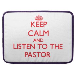 Guarde la calma y escuche el pastor funda macbook pro