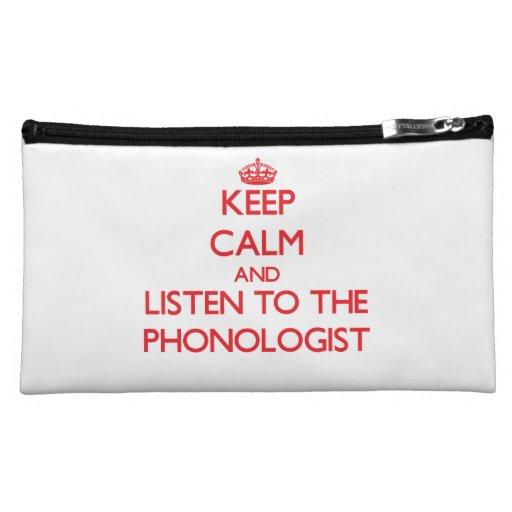 Guarde la calma y escuche el Phonologist