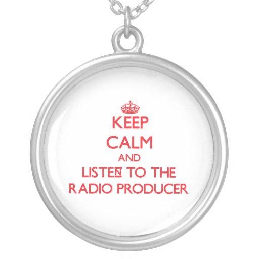 Guarde la calma y escuche el productor de radio colgante redondo