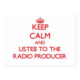 Guarde la calma y escuche el productor de radio plantillas de tarjetas de visita