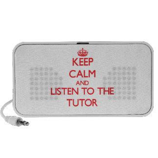 Guarde la calma y escuche el profesor particular portátil altavoz