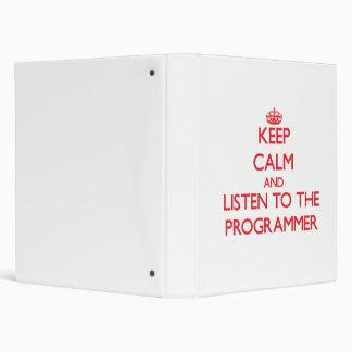 Guarde la calma y escuche el programador