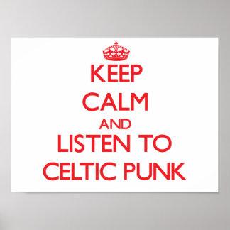 Guarde la calma y escuche el PUNK CÉLTICO Poster