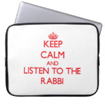 Guarde la calma y escuche el rabino fundas portátiles