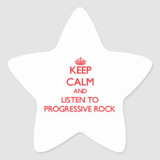 Guarde la calma y escuche el ROCK PROGRESIVO Colcomanias Forma De Estrellaes Personalizadas