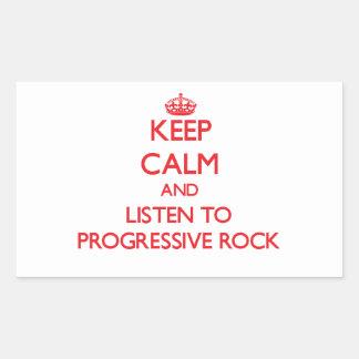Guarde la calma y escuche el ROCK PROGRESIVO Rectangular Altavoces