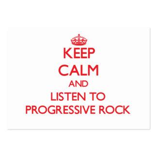 Guarde la calma y escuche el ROCK PROGRESIVO Plantillas De Tarjetas Personales